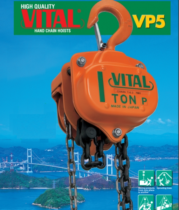 جرثقیل دستی ویتال VITAL HAND CHAIN BLOCK VP5